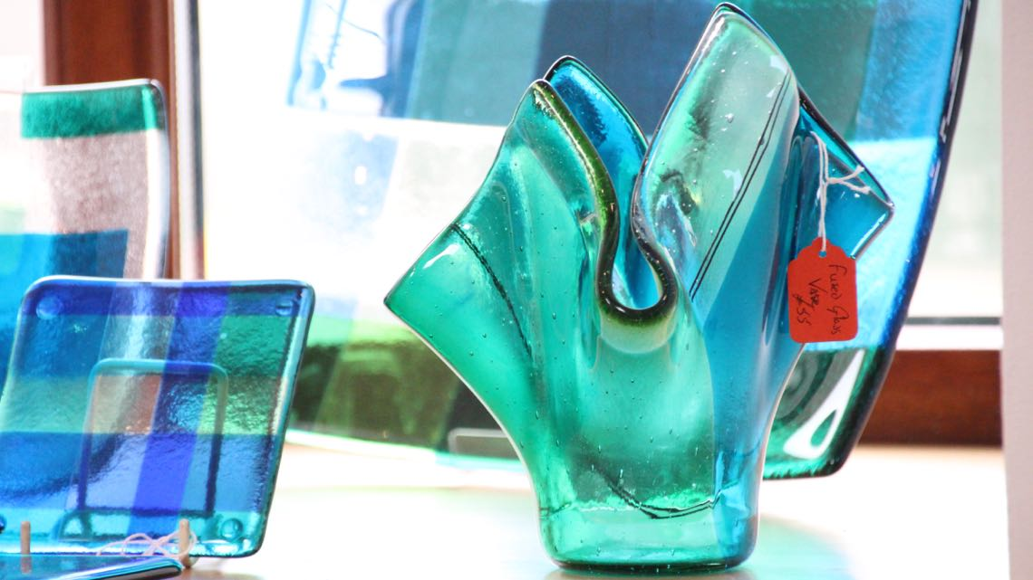 Fused glass items by Chris MacCormick.