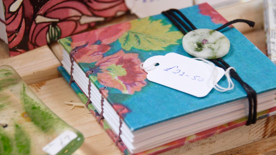 Handmade books by Liz and Alan Foulkes.